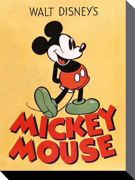 Plagát Canvas Myšiak Mickey (Mickey Mouse) - Mickey