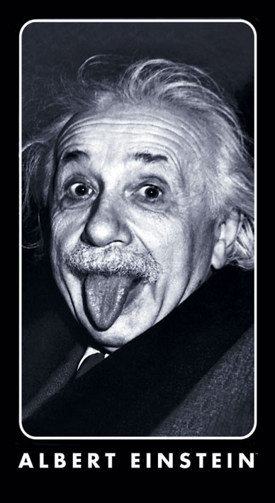 Naklejka ALBERT EINSTEIN - tongue