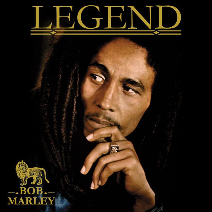 Naklejka BOB MARLEY - legend