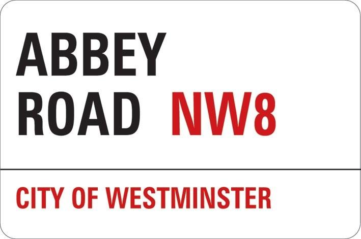 Naklejka LONDON - abbey road