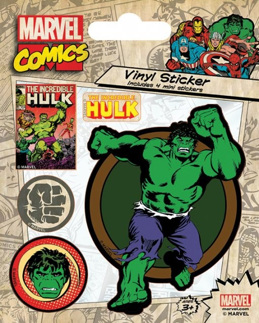 Naklejka  Marvel Comics - Hulk Retro