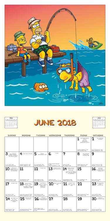 A Simpson család naptár 2018
