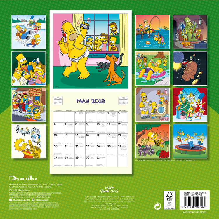 A Simpson család naptár 2019