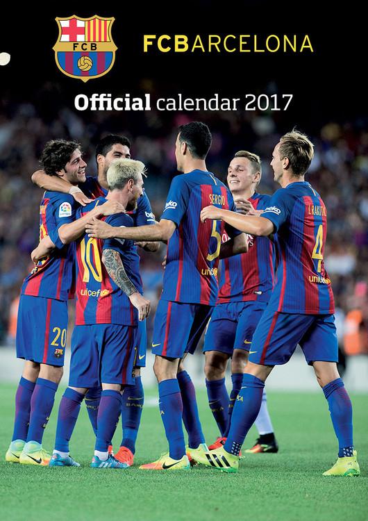 Barcelona + 12 free stickers naptár 2018