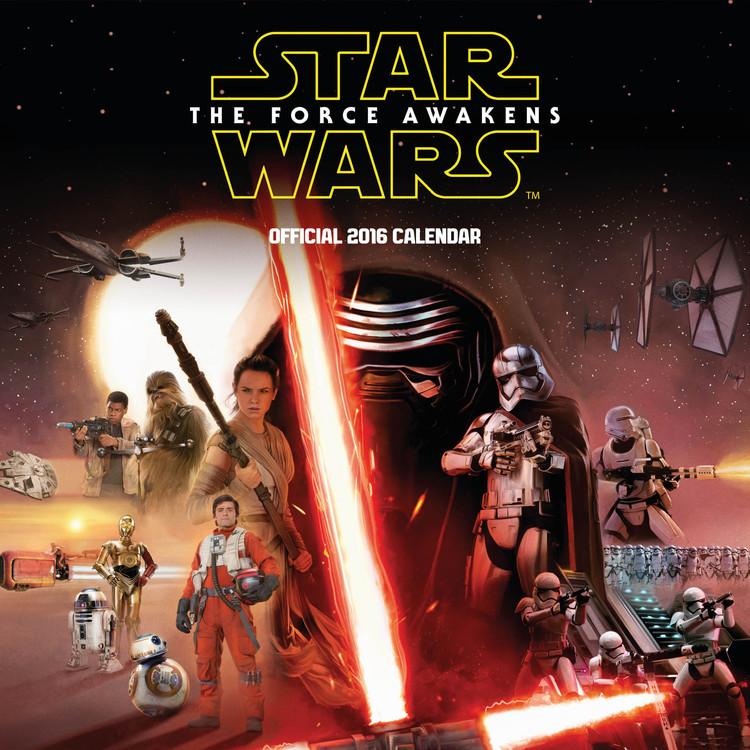 Csillagok háborúja VII (Star Wars: Az ébredő Erő) naptár 2017