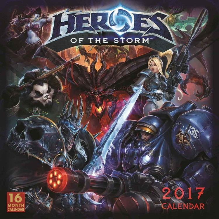 Heroes of the Storm naptár 2017