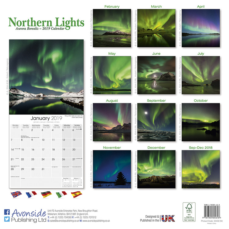 Northern Lights naptár 2019