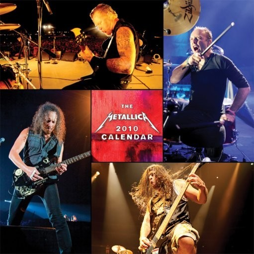 Official Calendar 2010 METALLICA  naptár 2017