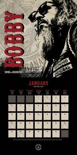Sons of Anarchy (Kemény motorosok) naptár 2019