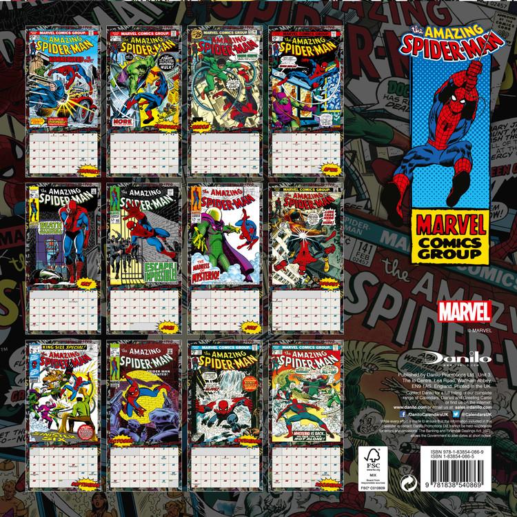 Spiderman naptár 2021
