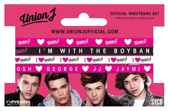 UNION J - set of 4 Náramek