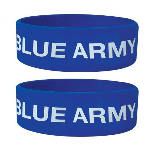 BLUE ARMY Náramok silikonove