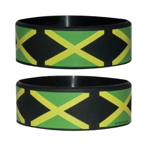JAMAICAN FLAG Náramok silikonove