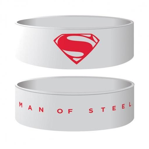 MAN OF STEEL - logo Náramok silikonove