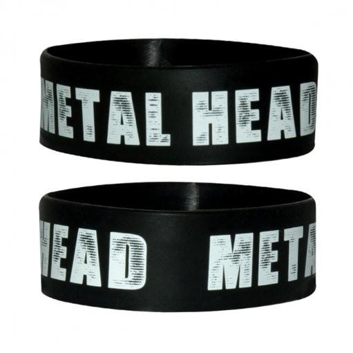 METAL HEAD Náramok silikonove