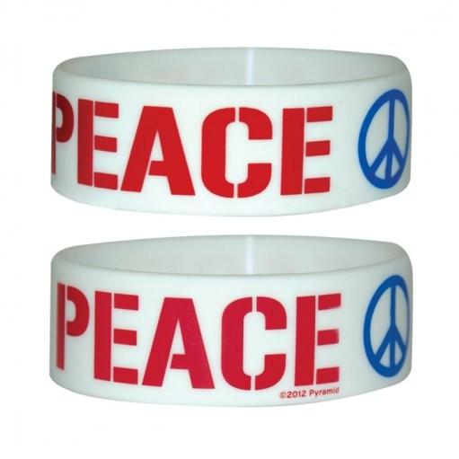 PEACE Náramok silikonove