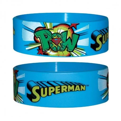 SUPERMAN - pow Náramok silikonove