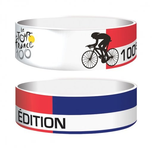 TOUR DE FRANCE - tricolour  Náramok silikonove