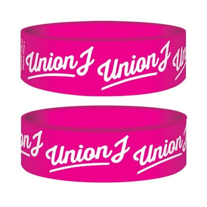 UNION J - pink logo Narukvica