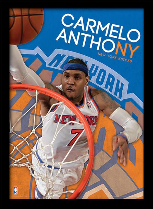 NBA - Carmelo Anthony rám s plexisklem
