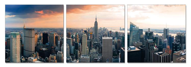 New York - Manhattan Tableau Multi-Toiles