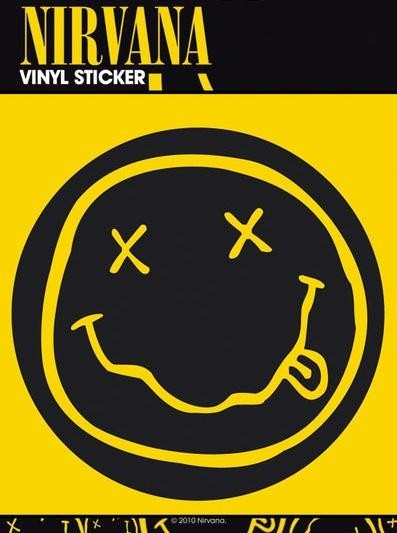 NIRVANA SMILEY Autocolant