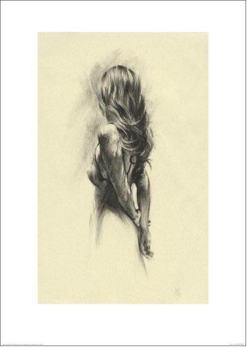 Nő - Back Festmény reprodukció