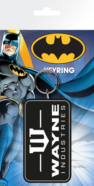 Batman Comic - Wayne Industries Nøglering
