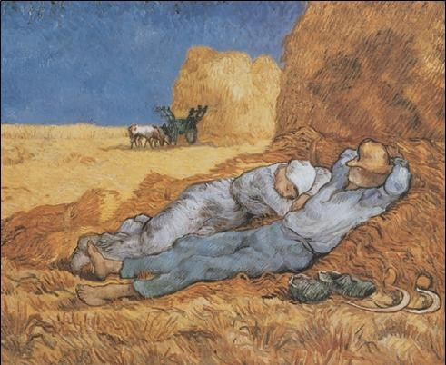 Noon: Rest from Work, 1890 Reproduction d'art