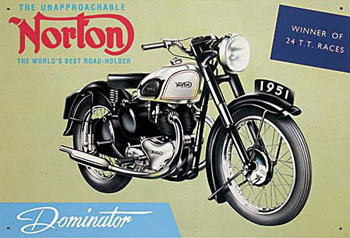 NORTON DOMINATOR Metalen Wandplaat