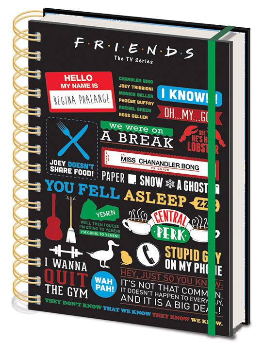 Notatnik Przyjaciele - Friends - Infographic