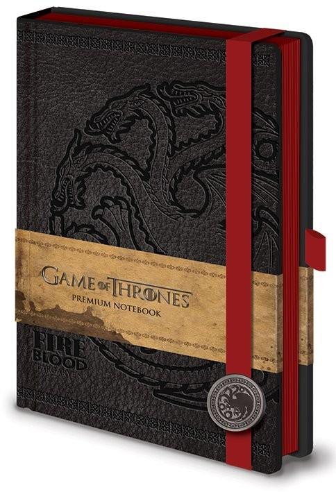 Game of Thrones - Targaryen Premium A5  Notesbøger