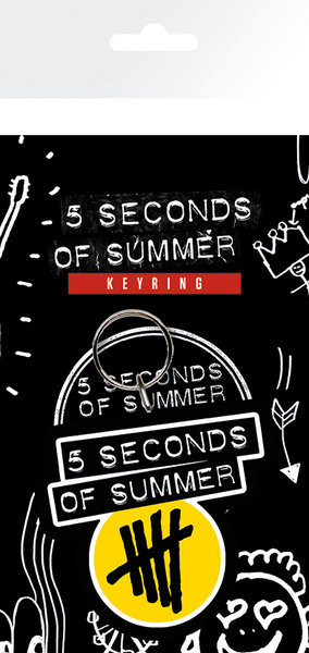 5 Seconds of Summer - Yellow Logo Nyckelringar