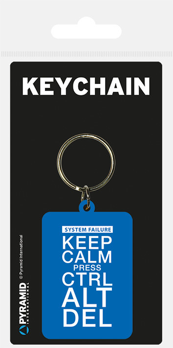 Keep Calm Press Ctrl ALt De Nyckelringar