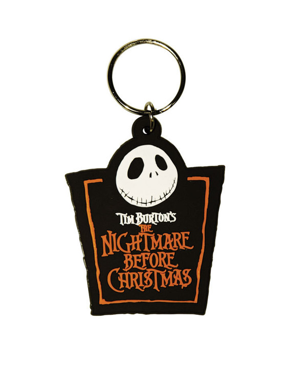 THE NIGHTMARE BEFORE CHRISTMAS - Jack Logo Nyckelringar