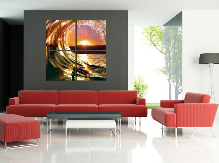 Falling Wave - Sunset Obraz