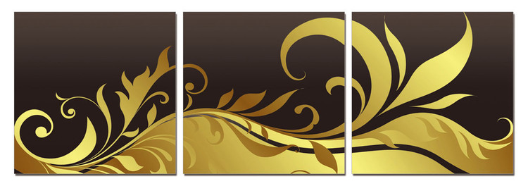 Modern Design - Black and Gold Ornament Obraz