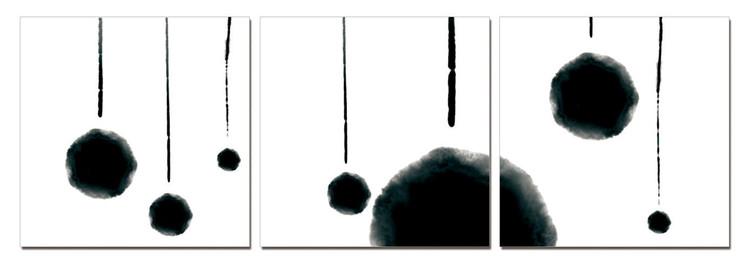 Modern Design - Hanging Balls (B&W) Obraz