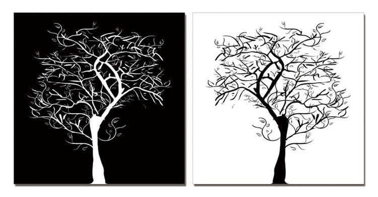 Modern Design - Tree Silhouettes Obraz