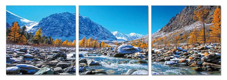 Mountains - Mountain Stream Obraz