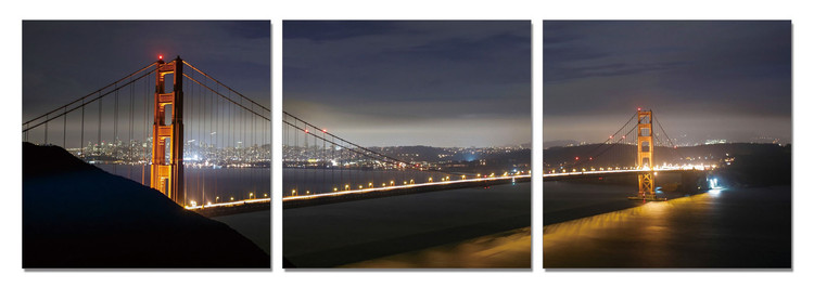 San Francisco - Golden Gate at Night Obraz