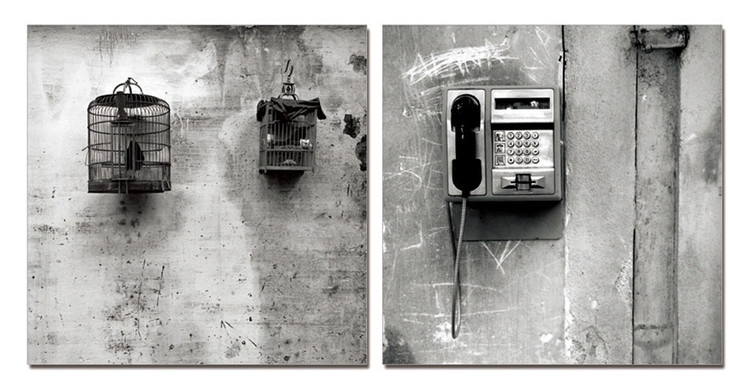 Street Art Photo Industrial (B&W) Obraz