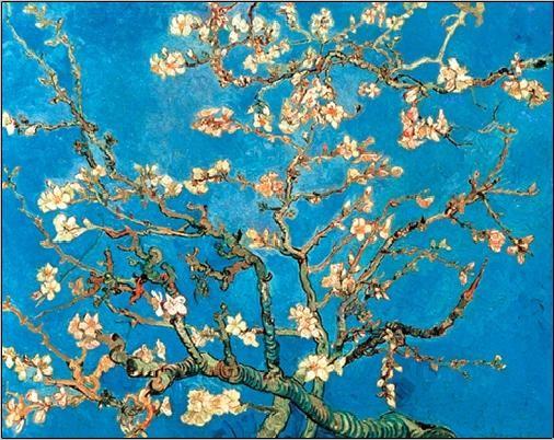 Almond Blossom - The Blossoming Almond Tree, 1890, Obrazová reprodukcia