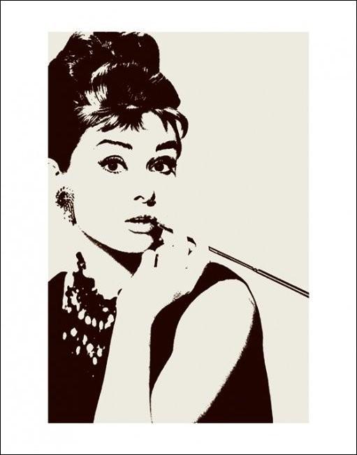Audrey Hepburn - cigarello , Obrazová reprodukcia