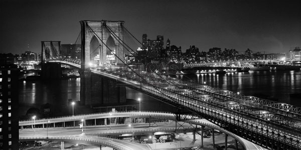 Brooklyn bridge at night, Obrazová reprodukcia