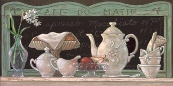 Reprodukce Cafe Du Matin