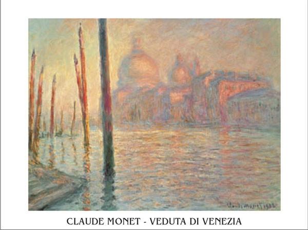 Reprodukce Canal Grande (Velký kanál) a Santa Maria della Salute, Benátky, 1908