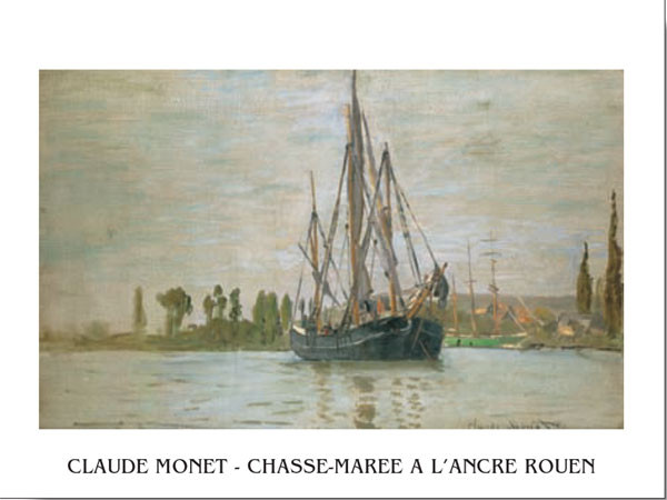 Reprodukce Chasse-Marée À L'Ancre (Rouen)
