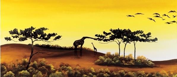 Giraffes, Africa, Obrazová reprodukcia
