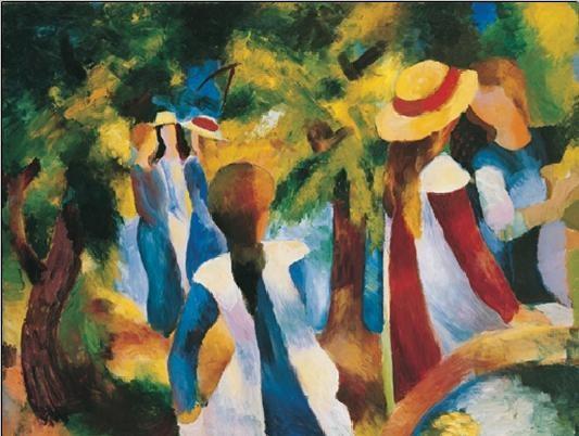 Girls Under the Trees, Obrazová reprodukcia